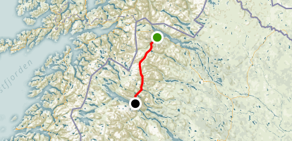 "Kungsleden: ""The King's Trail"" Map"