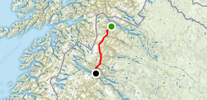 """Kungsleden: """"The King's Trail"""" Map"""
