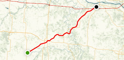 Katy Trail: Sedalia to Boonville Map
