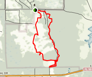 The Florida Trail Segment 13: Seminole Ranch Trailhead to Oviedo Map