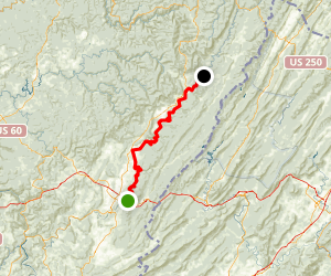 Greenbrier River Valley Trail From Lewisburg Map