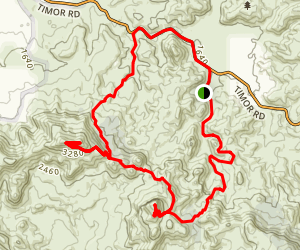 Warrumbungles Grand High Tops Loop Map