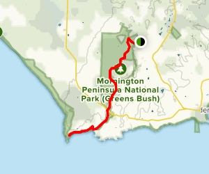 Two Bays Walking Track Map
