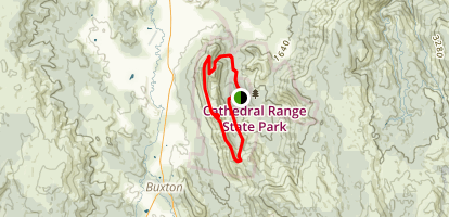 Cathedral Range Loop Map