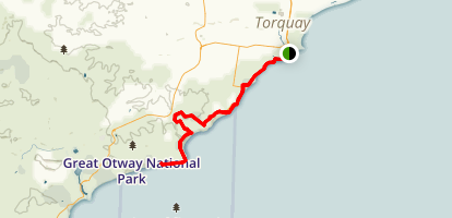 Surf Coast Walk Map