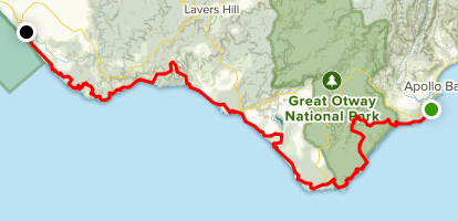 Great Ocean Walk Map Great Ocean Walk   Victoria, Australia | AllTrails