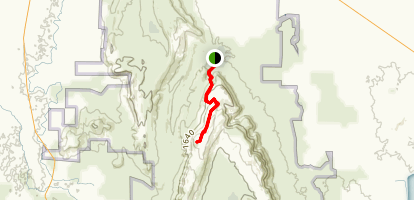 Mount Difficult Via Beehive Falls Map