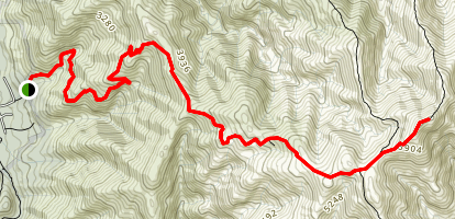 Mount Feathertop via Bungalow Spur Map