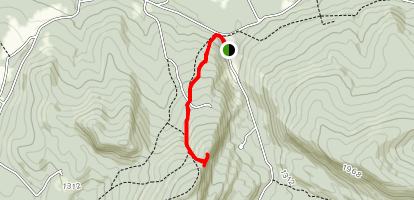 Holts Ledge via Appalachian Trail Map