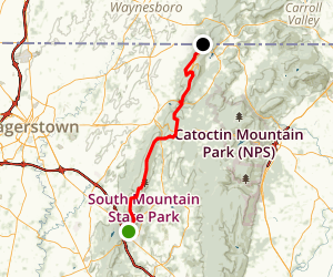 Appalachian Trail: Pine Knob to Pen Mar County Park Map