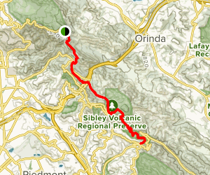 Bay Area Ridge Trail: Lomas Cantadas to Skyline Map