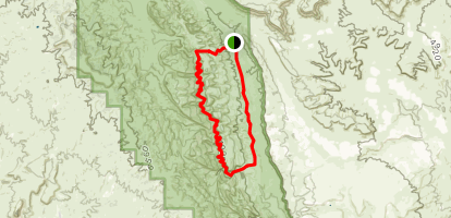 Lower Muley Twist Canyon and Grand Gulch Loop Map