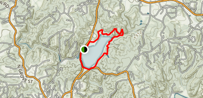 Lake Zwerner (aka Yahoola Creek Reservoir) Map