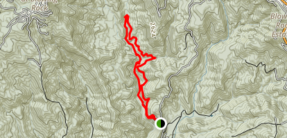 Lower China Creek Map
