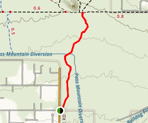 South Cat Peak via Spillway Trail Map
