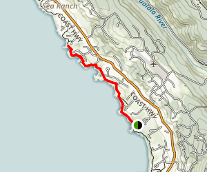 Sea Ranch Beaches Access Trails  Map