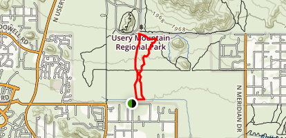 Amigos Wash Trail Map