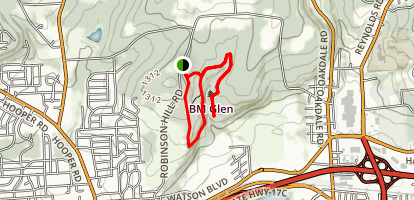 The IBM Glen Trail: An Educational Preserve of the Fred L. Waterman Center Map