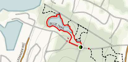 Melville Park Blue Trail Map