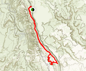 Halls Creek Canyon Trail Map