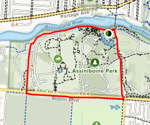 Assiniboine Park Loop Map