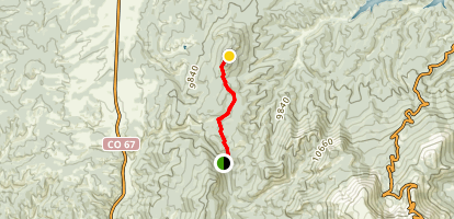 Raspberry Mountain Trail Via Ring the Peak Trail Map