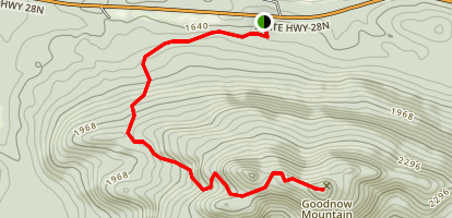 Goodnow Mountain Trail Map