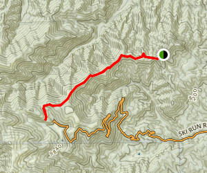 Crest Trail to Ski Apache Map