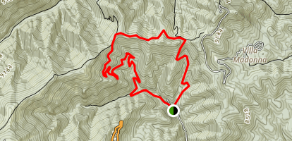 Telephone Canyon, Miner's Road, Eagle Creek Loop Map