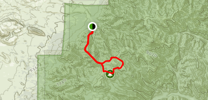 Sanders Ridge Trail to Clear Water Trail Map