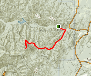 Mills Canyon Trail to Monjeau Peak Map