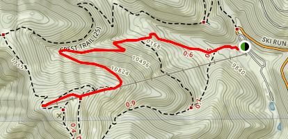 Lookout Mountain at Ski Apache Map