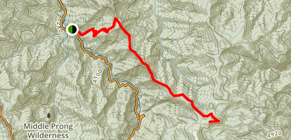 Fork Ridge Trail to Tennent Mountain Map