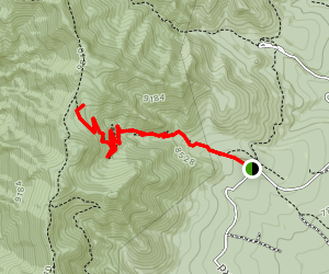 Ox Canyon Trail to Upper Ox Spring Map