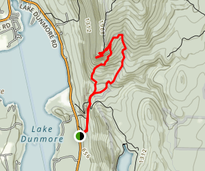 Rattlesnake Cliffs Trail to Aunt Jenny Trail Map