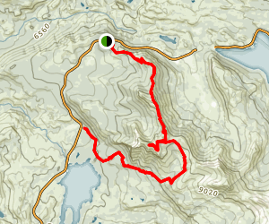 Thunder Mountain Trail to Horseshoe Canyon Trail Map