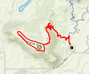 Lincoln Mountain Loop Map
