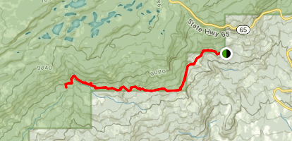 Blue Grouse Trail [PRIVATE PROPERTY] Map