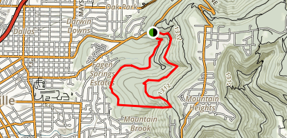 Bluffline Trail to Alms House Trail Loop Map