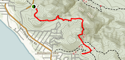 Crystal Mountain via PCT Map