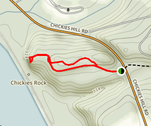 Chickies Rock Overlook Trail Map