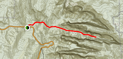 Middle Fork Taylor Creek Trail Map
