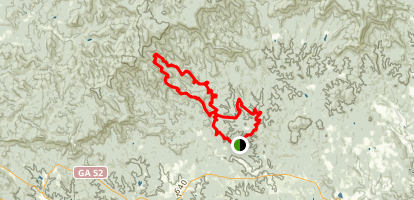 Jake Mountain, Bull Mountain, Saddle Back Loop Trail  Map