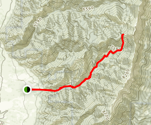 Middle Cottonwood Creek Map