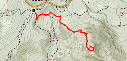 Barlow Butte Trail Map
