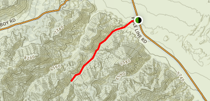Allum Creek Canyon Trail Map
