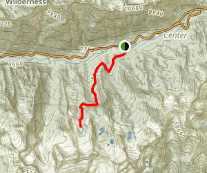 Maybird Gulch Trail to Maybrid Lakes Map