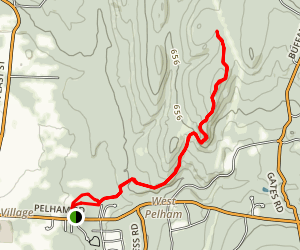 Robert Frost Trail to Mount Orient Map