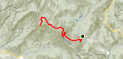 Bartram Trail: Jones Gap to Whiterock Mountain Map