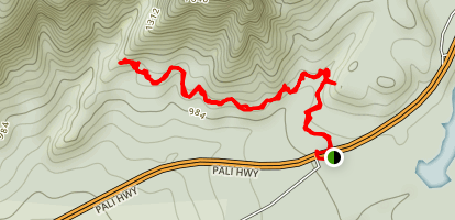 Mo'ole Valley Falls Trail Map